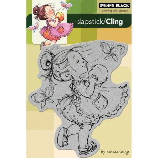 Penny Black Cling Rubber Stamp 4X6 You Are A Peach   14772373
