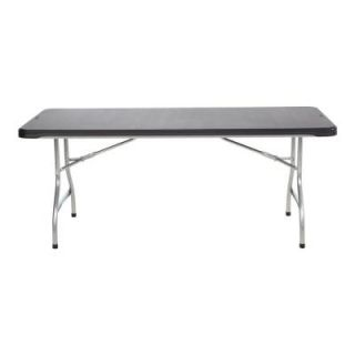 Lifetime 6 ft. Black Commercial Stacking Folding Table 280350
