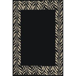 nuLOOM Omega Collection Zebra Animal Black Rug (53 x 76)