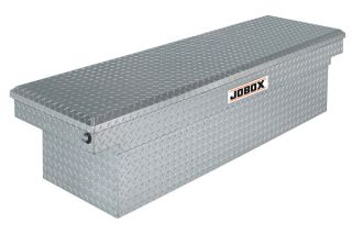 JOBOX Aluminum Single Lid Deep & Wide Crossover Truck Tool Box