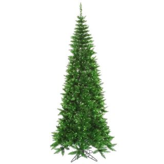 Tinsel Green Slim Fir Artificial Christmas Tree with 700 Mini