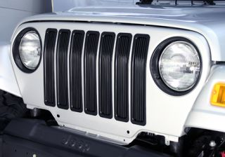 1997 2006 Jeep Wrangler Bar Billet Grilles   Rugged Ridge 11401.03   Rugged Ridge Grille Inserts