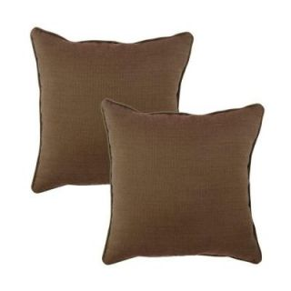 Hampton Bay Wheaton Texture Outdoor Throw Pillow (2 Pack) DISCONTINUED 7379 02222000