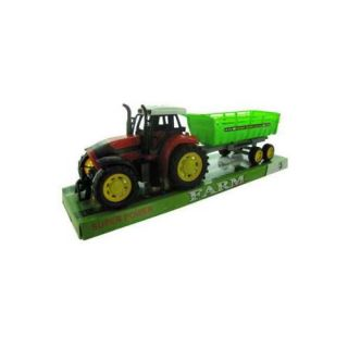 Friction Farm Tractor Truck and Trailer   Set of 2