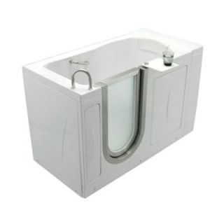 Ella Elite 4.33 ft. x 30 in. Acrylic Walk In Soaking Bathtub in White with Left Drain/Door 03107