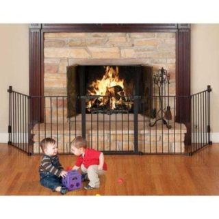 KidCo Custom Fit Auto Close Hearthgate Safety Gate   Black