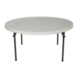 Lifetime 60 in. Almond Round Commercial Stacking Folding Table 280435