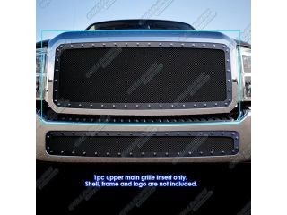 Fits 2011 2014 Ford F 250/F 350 Super Duty Rivet Black Mesh Grille Grill Insert # FL6828H