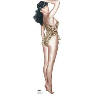 Advanced Graphics Bettie Page   Leopard Bikini Cardboard Standup
