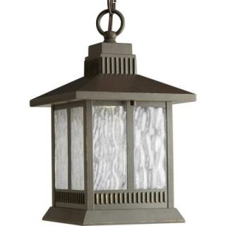 Progress Lighting Greenridge Collection 1 Light Antique Bronze Outdoor Hanging Lantern P5509 20