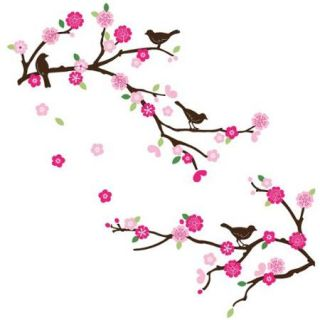 Blossoms and Branches Peel & Stick Kids Room Wall Decal for Boys & Girls