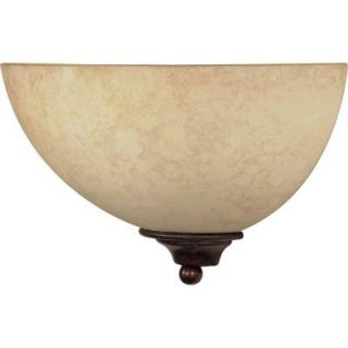Glomar 1 Light Old Bronze Sconce with Tuscan Suede Glass Shade HD 044