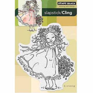 "Penny Black Cling Rubber Stamp, 5"" x 7 1/2"""