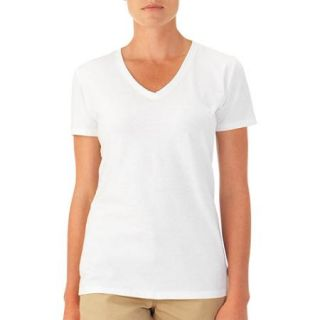 Fruit of the Loom Women's Short Sleeve V neck T Shirt