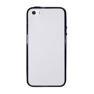 INSTEN White/ Black Plain Hard PC TPU Rubber Bumper Phone Case Cover