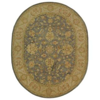 Safavieh Antiquity Blue/Beige 7 ft. 6 in. x 9 ft. 6 in. Oval Area Rug AT312A 8OV