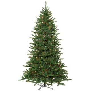 14' Pre Lit Frasier Fir Artificial Christmas Tree & Stand   Multi Dura Lights