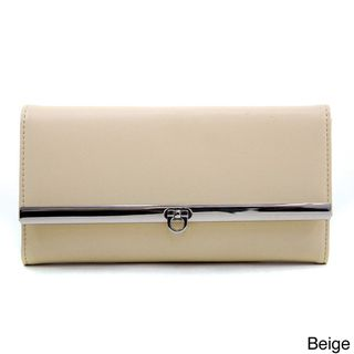 Dasein Womens Solid Tri fold Checkbook Wallet   Shopping