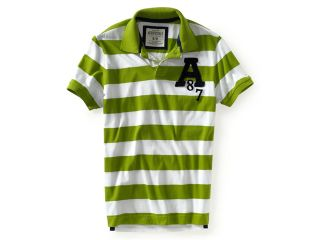 Aeropostale Mens A87 Stripe Rugby Polo Shirt 302 XS