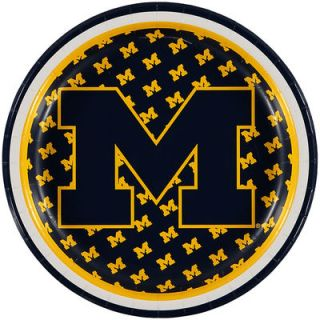Michigan Wolverines 8 Pack Lunch Plate Set