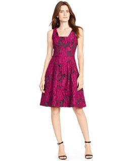 Lauren Ralph Lauren Floral Jacquard Sleeveless Dress   Dresses   Women
