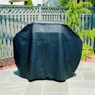 Mr. Bar B Que Premium Large Black Grill Cover   Outdoor Living
