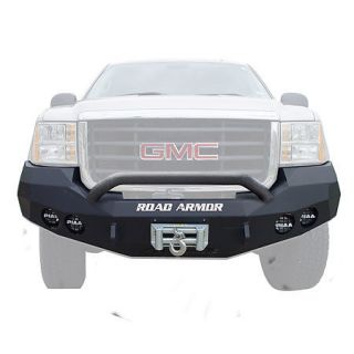 Road Armor Stealth Base Front Bumper With Pre Runner Guard 2008 2010 GMC HD 2500/3500