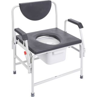 Drive Medical Extra Large Heavy Duty Bariatric Drop Arm Commode, Assembled   1 Ea, 11138 1