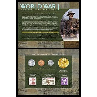 American Coin Treasure World War I Coin and Stamp Collection Wall Framed Memorabilia