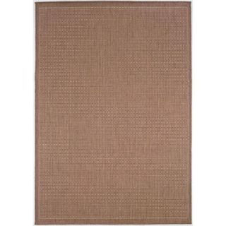 Couristan Recife Saddle Stitch Rug, Cocoa/Natural