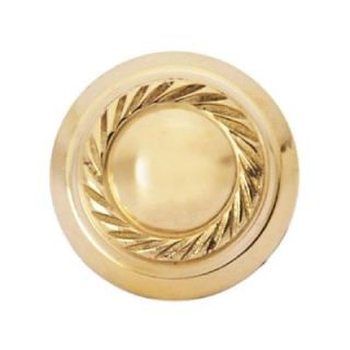 Copper Mountain Hardware Georgian Roped 1 in. Polished Brass Round Cabinet Knob SH111US3L