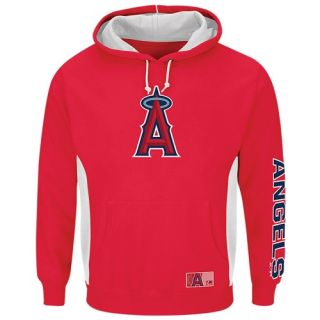 Majestic MLB Team Hoodie   Mens   Baseball   Clothing   Los Angeles Angels   Red