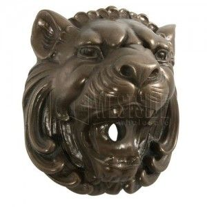 "Jandy 20907 Aqua Accents Victorian Lion Head, 6.5"" x 7.5""   Bronze"