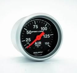 Auto Meter   Sport Comp Mechanical Air Pressure Gauge