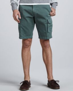 Brunello Cucinelli Slim Cargo Shorts, Fern