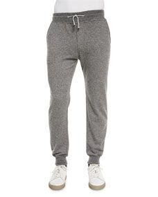 Brunello Cucinelli Cashmere Knit Jogger Pants, Gray