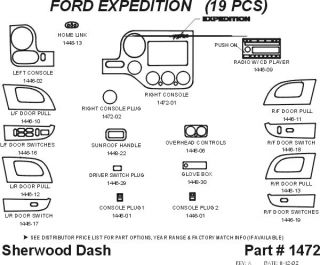 2003 2006 Ford Expedition Wood Dash Kits   Sherwood Innovations 1472 N50   Sherwood Innovations Dash Kits