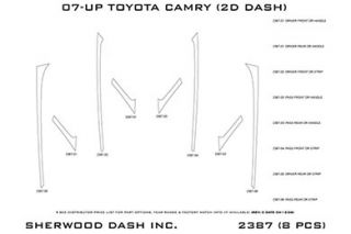 2007 2013 Toyota Camry Wood Dash Kits   Sherwood Innovations 2387 R   Sherwood Innovations Dash Kits