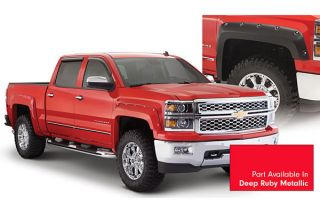 2014, 2015 Chevy Silverado Pocket Style Fender Flares   Bushwacker 40959 74   Bushwacker Color Match Pocket Style Fender Flares