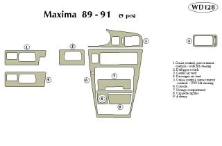 1989, 1990, 1991 Nissan Maxima Wood Dash Kits   B&I WD128 DCF   B&I Dash Kits