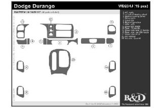 2000 Dodge Durango Wood Dash Kits   B&I WD234J DCF   B&I Dash Kits