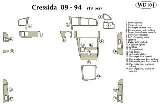 1989 1992 Toyota Cressida Wood Dash Kits   B&I WD101 DCF   B&I Dash Kits