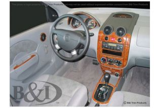 2004 2007 Chevy Aveo Wood Dash Kits   B&I WD548A DCF   B&I Dash Kits