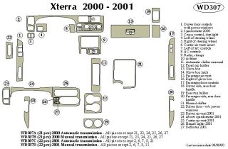 2000 Nissan Xterra Wood Dash Kits   B&I WD307B DCF   B&I Dash Kits