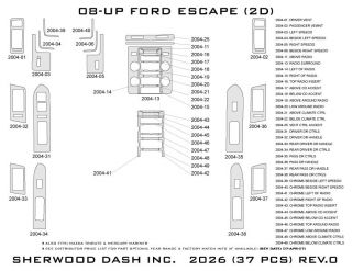 2008 2012 Ford Escape Wood Dash Kits   Sherwood Innovations 2026 N50   Sherwood Innovations Dash Kits