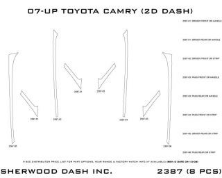 2007 2013 Toyota Camry Wood Dash Kits   Sherwood Innovations 2387 N50   Sherwood Innovations Dash Kits