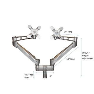 Unity Height Adjustable Double Monitor Arm by Symmetry Office
