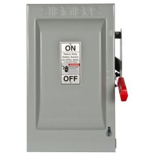 Siemens Heavy Duty 60 Amp 600 Volt 3 Pole Indoor Fusible Safety Switch HF362