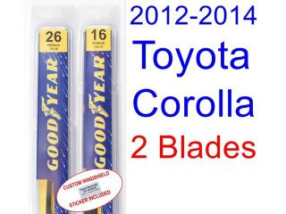 2012 2014 Toyota Corolla(L) Replacement Wiper Blade Set/Kit (Set of 2 Blades) (2013)