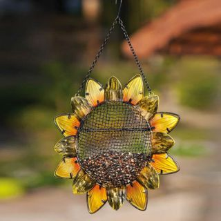 Evergreen Flag & Garden Sunflower Decorative Bird Feeder